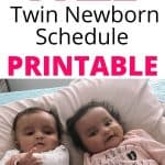 twin schedule template