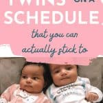 getting twins on schedule