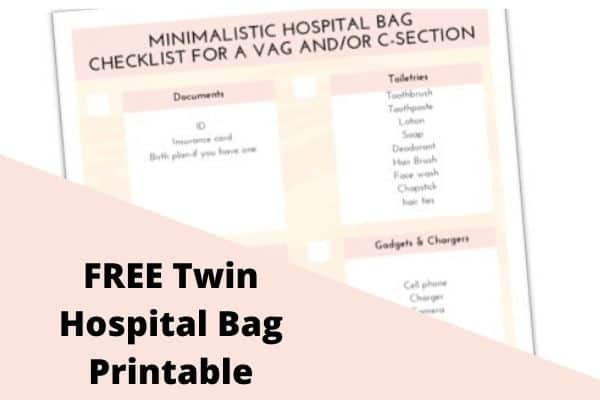 twin hospital packing list