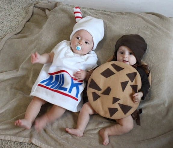 twin costume ideas milk and cookie