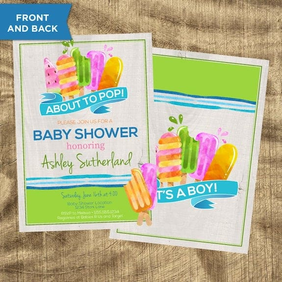 popsicle theme baby shower