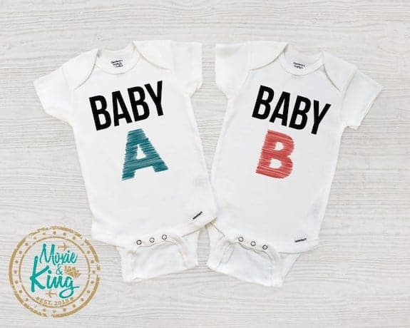 baby a and baby b pregnancy announcement