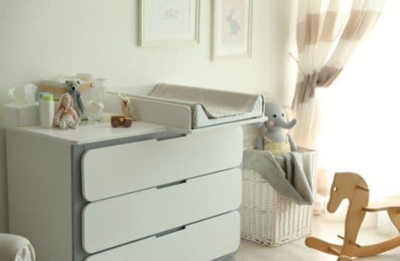 small changing table for nursery