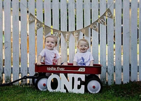 twin boy first party