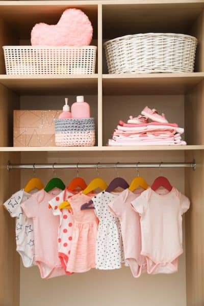 closet space for small nursery