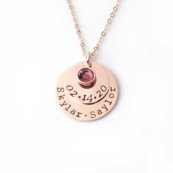 twin mom personalized necklace