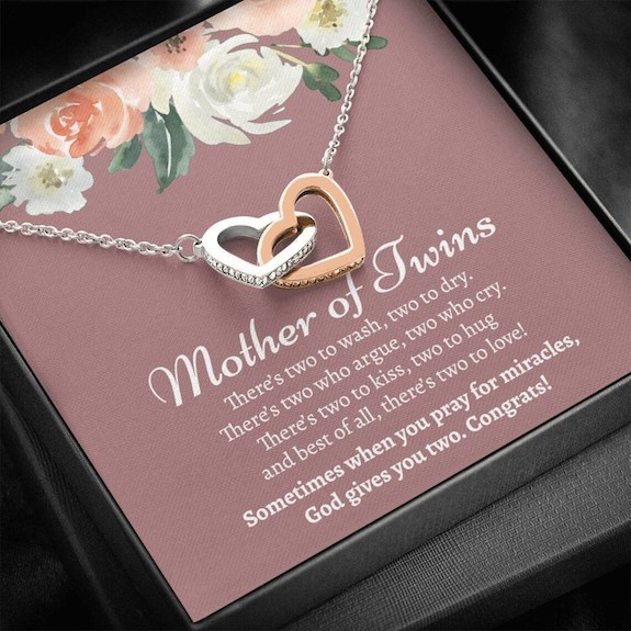 twin mom necklace