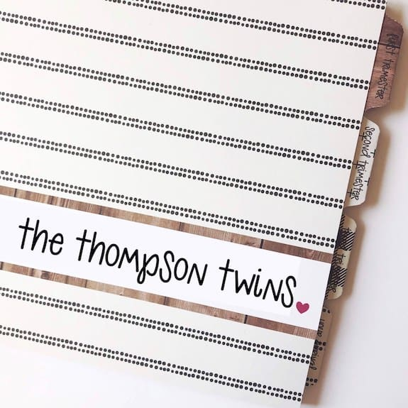 journal for expecting mom of twins