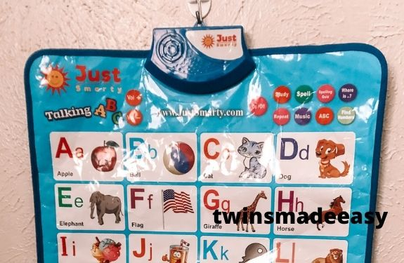 abcs and numbers learning toy gift idea for twin toddlers