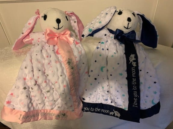 lovey for twin boy and girl as gift ideas