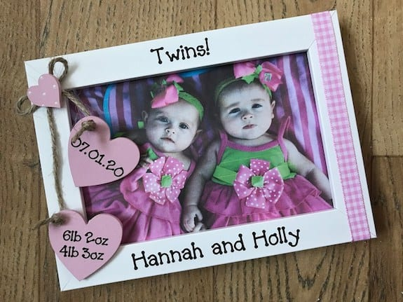 non toy twin gift ideas personalized photo frame