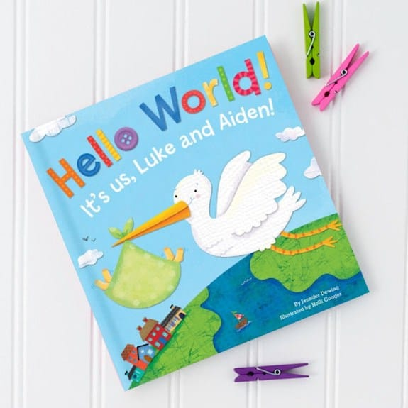 personalized twin baby gift ideas book
