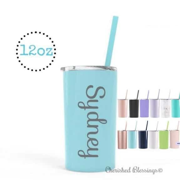 water cup personalized gift idea