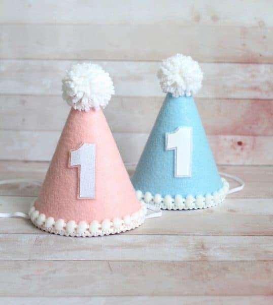 twin hats for birthday party
